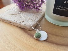 Mother of Pearl Dot Necklace - Sage