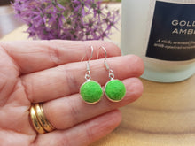 Dot Earrings - Bright Green