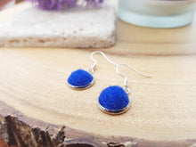Dot Earrings - Royal Blue