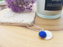 Mother of Pearl Dot Necklace - Royal Blue