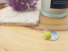 Hammer Dot Necklace - Yellow Green