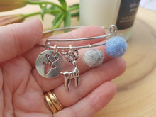 Sleek Reindeer Bangle - French Blue