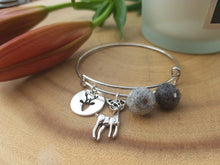 Sleek Reindeer Bangle - Dark Grey Marl