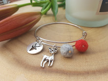 Sleek Reindeer Bangle - Red
