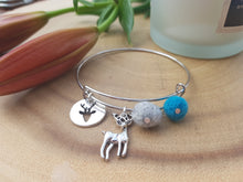 Sleek Reindeer Bangle - Kingfisher Blue