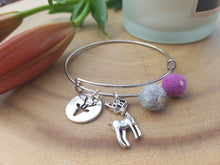 Sleek Reindeer Bangle - Violet