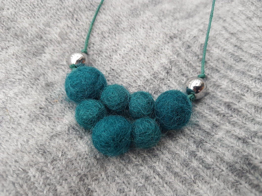 Mini block bib - Teal