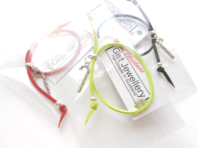 Christmas friendship CANDY CANE bracelet - pack of 3