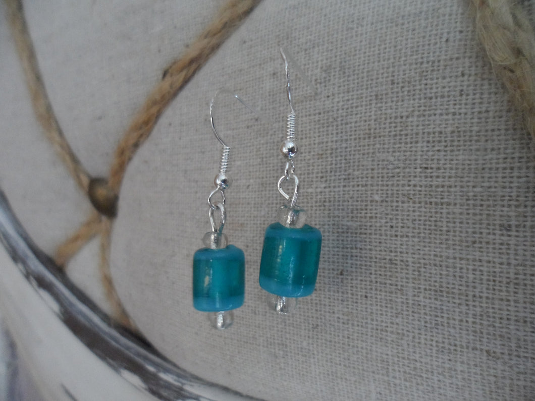 Jade Indian Glass beaded Earrings