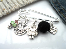 Scottish Sheep Kilt pin Brooch, Black