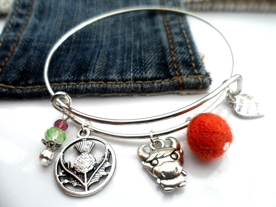 Highland cow Bangle