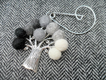 Tree Of Life - Brooch - Black & white
