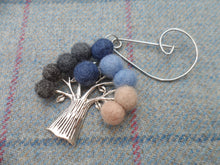 Tree Of Life - Brooch - Blue