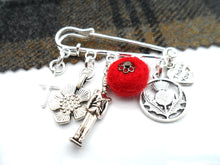 Poppy Scotland Charm Brooch