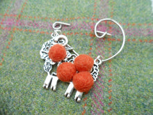 "Scottish Kitsch ""Ram McLamb"" Brooch , Orange"