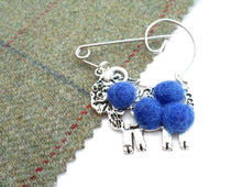 "Scottish Kitsch ""Ram McLamb"" Brooch , Blue"