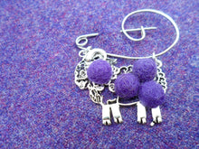 "Scottish Kitsch ""Ram McLamb"" Brooch , Purple"