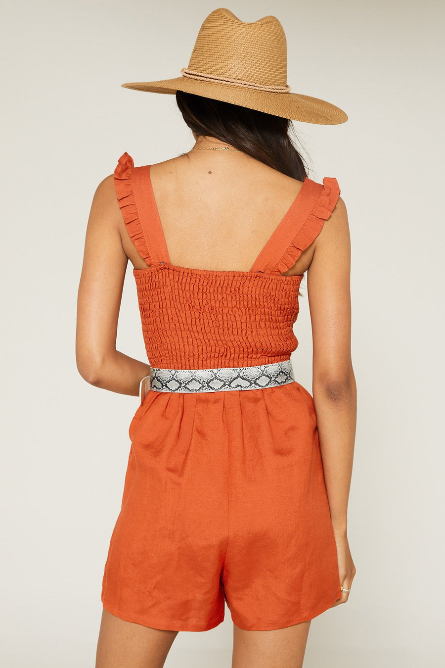 Native Fox Ruffle Romper