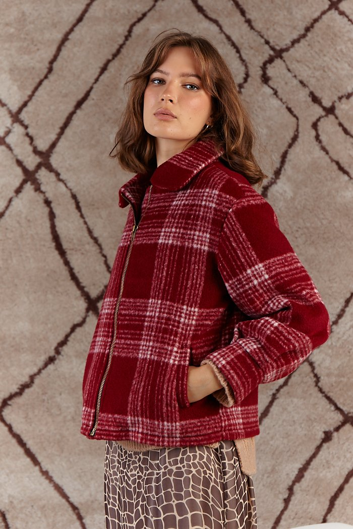 Prim Plaid Jacket