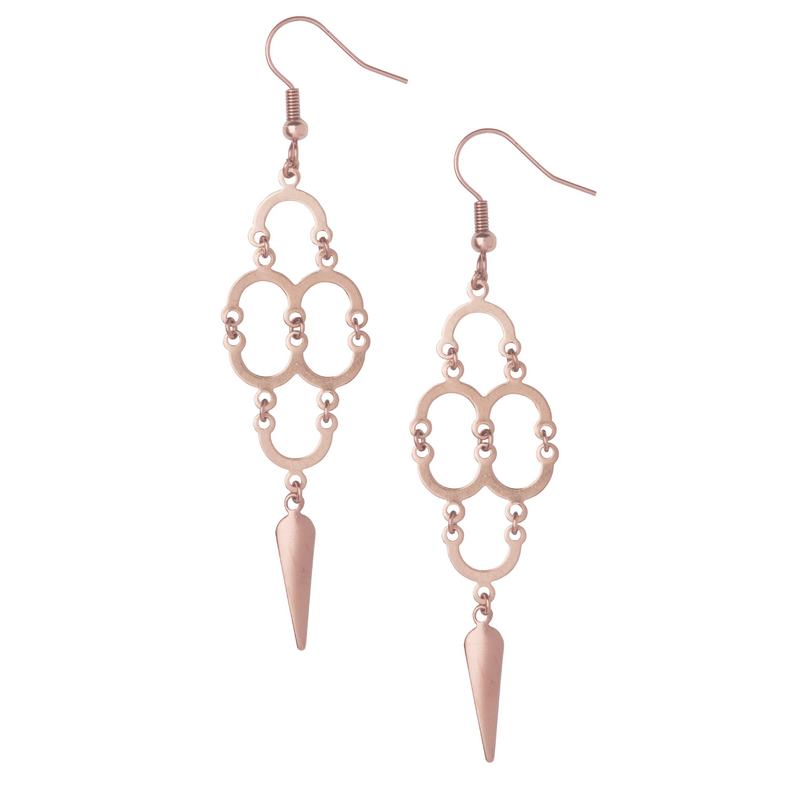 Aefifa Rose Gold Earrings - Leo With Love