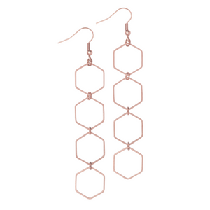 Kaya Rose Gold Earrings - Leo With Love