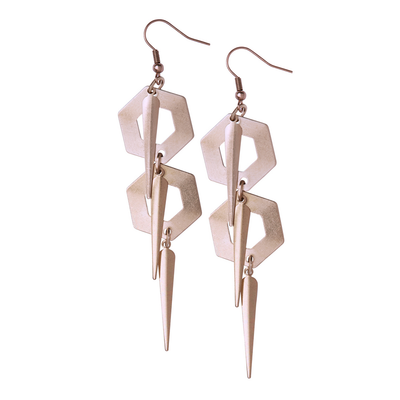 Katrina Rose Gold Earrings - Leo With Love