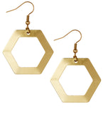 Jane Minimalist Geometric Hexagon Earrings