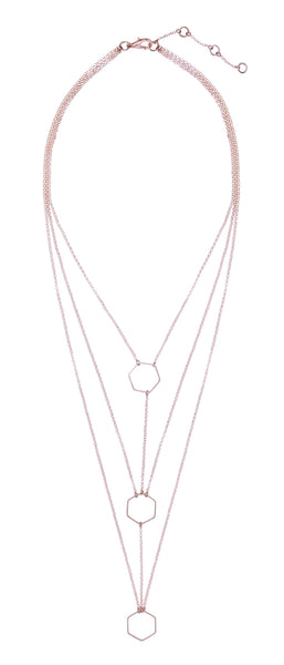 Rose Gold Charlotte Geometric Layered Necklace
