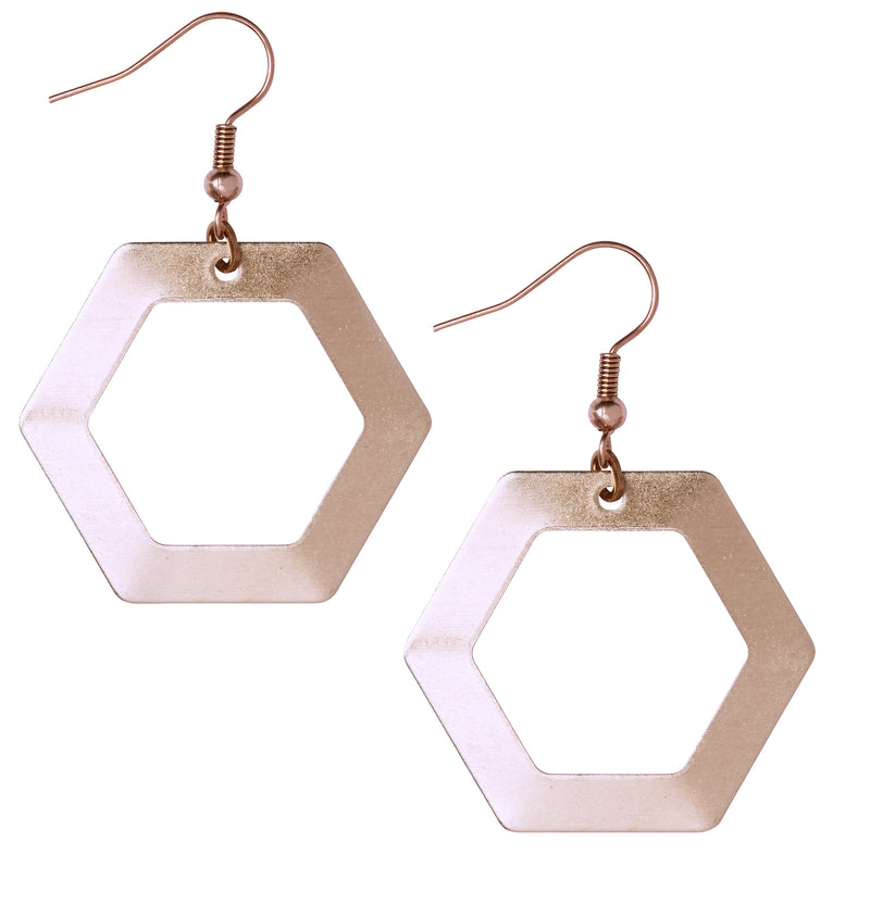 Jane Rose Gold Earrings - Leo With Love