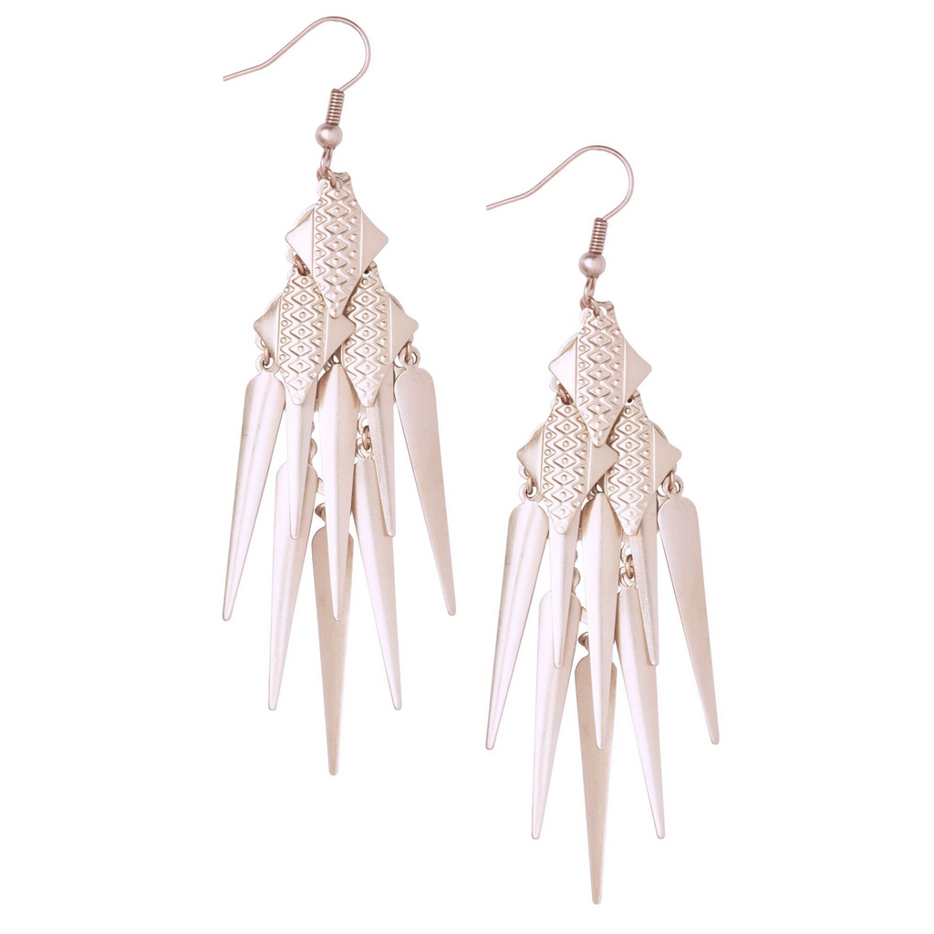 Charan Rose Gold Earrings - Leo With Love
