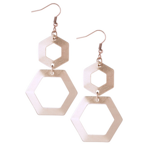 Dilly Rose Gold Earrings - Leo With Love