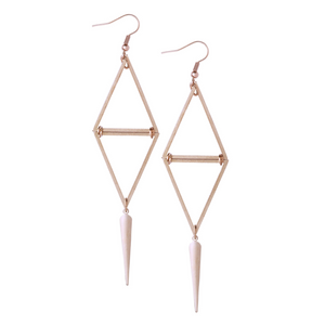 Laura Rose Gold Earrings - Leo With Love