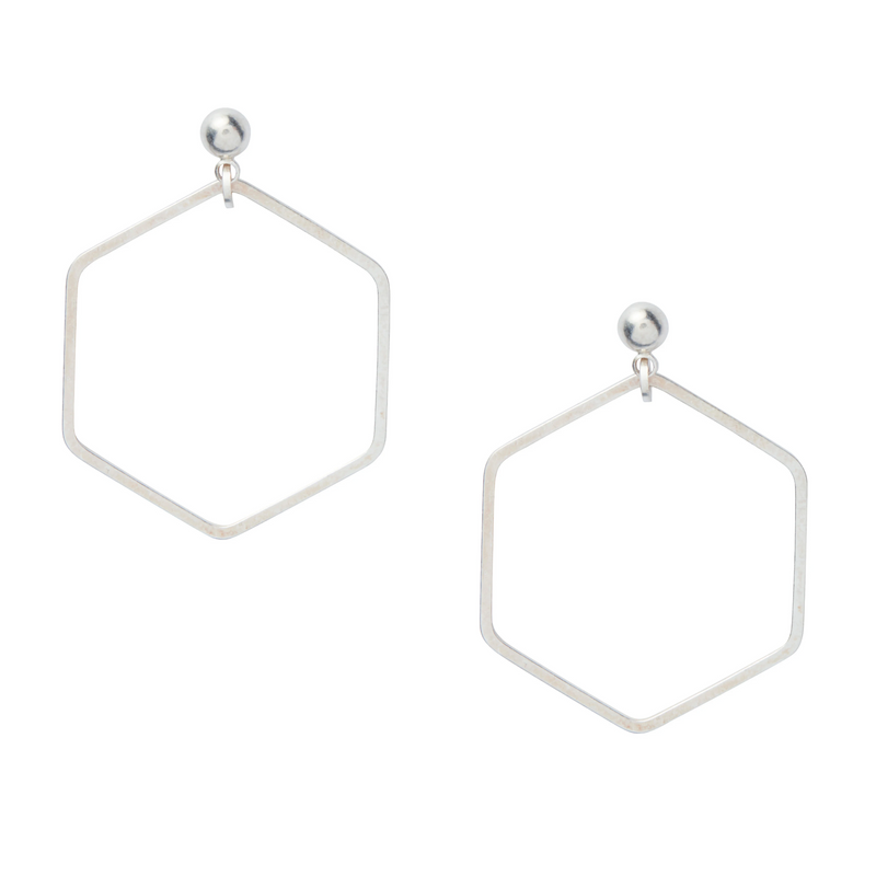 Hex Drop Earrings - Leo With Love