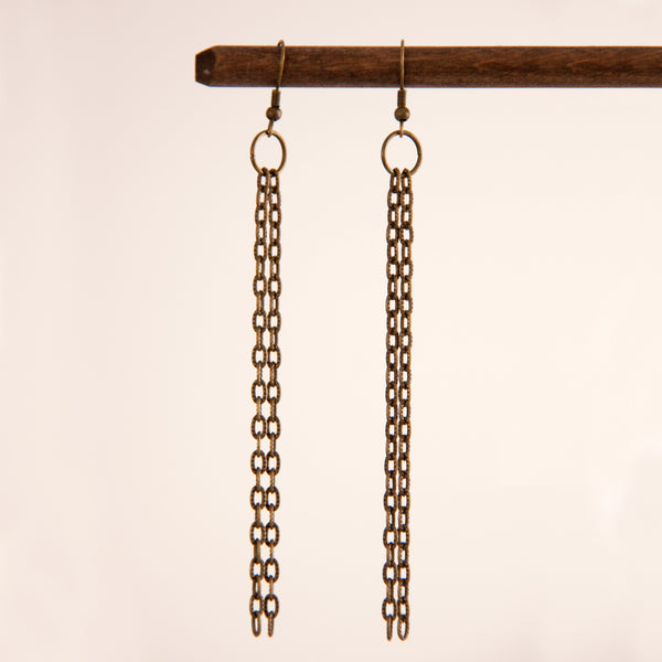 Zina earrings in Antique