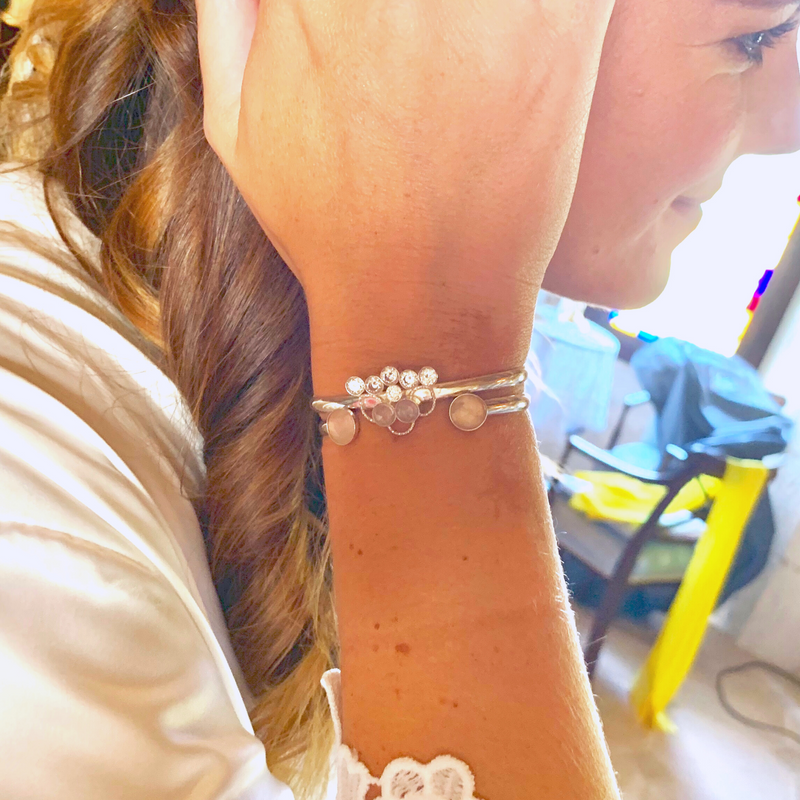 Bridal Bracelet and Bridesmaid Bracelet - Leo With Love