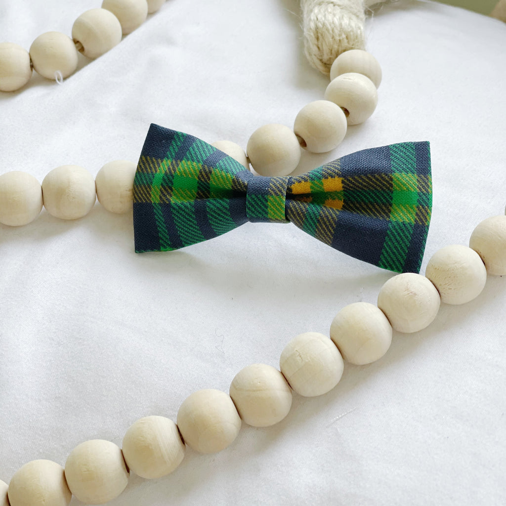Blue and Green Tartan Bow Tie