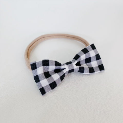 Black and White Plaid Bow Tie - Ever Iris Designs