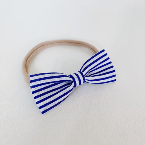 Navy Skinny Stripe Bow Tie - Ever Iris Designs