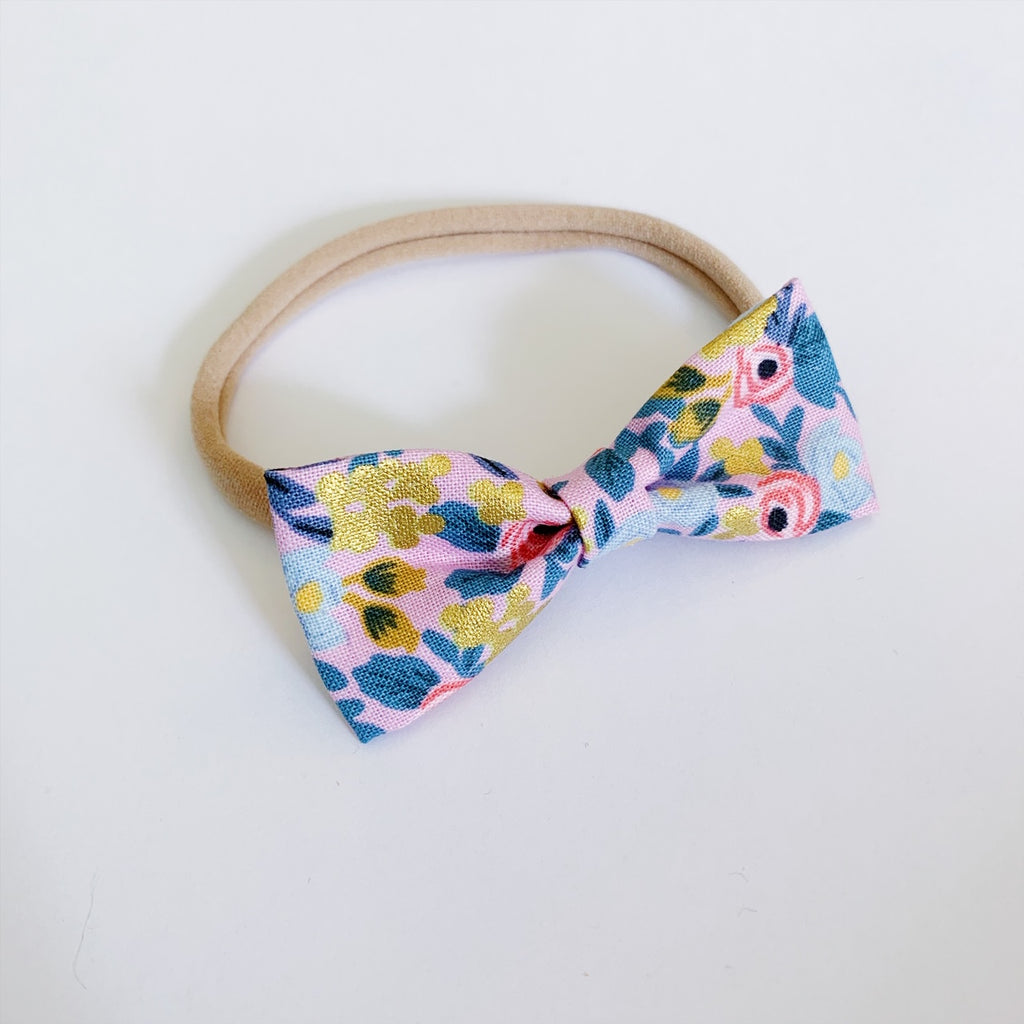 Flora Rose Bow Tie - Ever Iris Designs