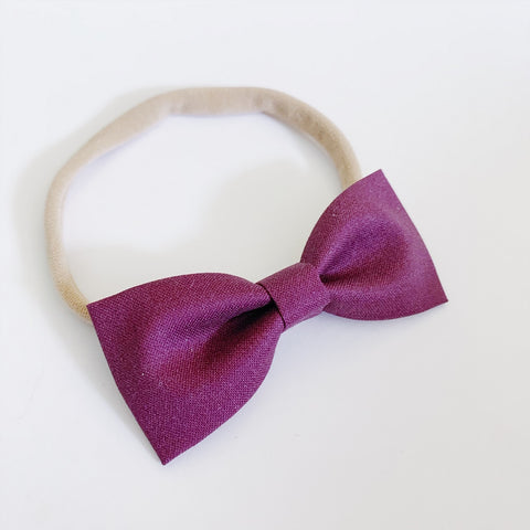 Plum Bow Tie - Ever Iris Designs