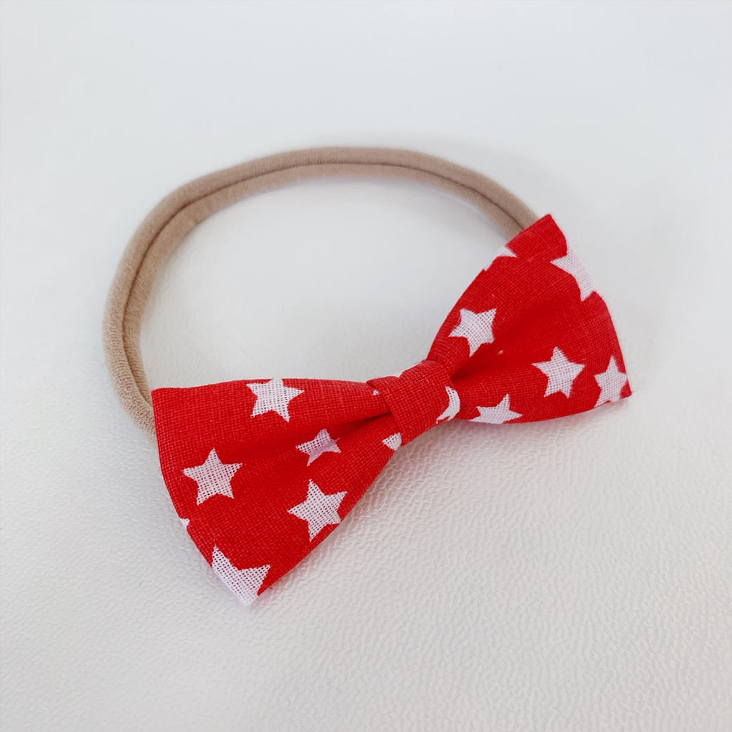 Red with White Stars Bow Tie - Ever Iris Designs