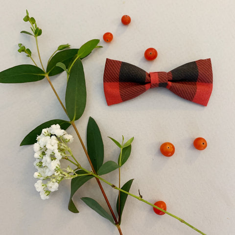 Buffalo Plaid Bow Tie - Ever Iris Designs