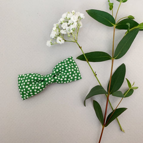 Green Polka Dot Bow Tie - Ever Iris Designs