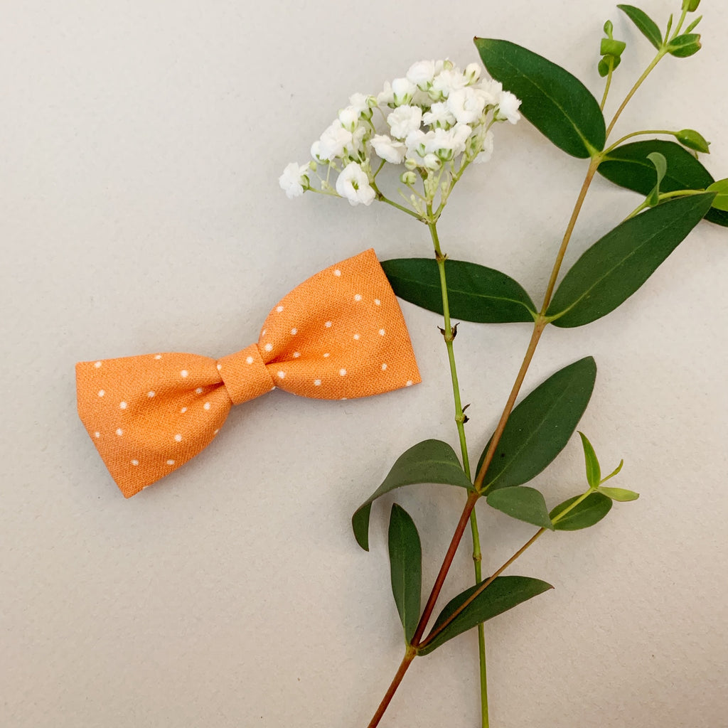 Orange with White Polka Dots Classic - Ever Iris Designs