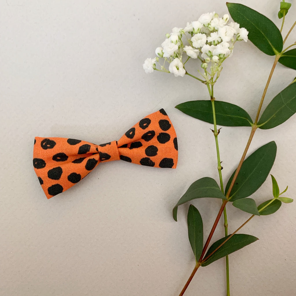 Orange with Black Polka Dots Classic - Ever Iris Designs