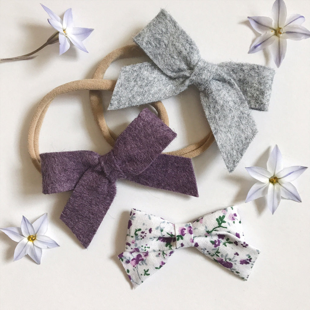 Mini School Girl Heathered Felt and Floral Collection - Ever Iris Designs