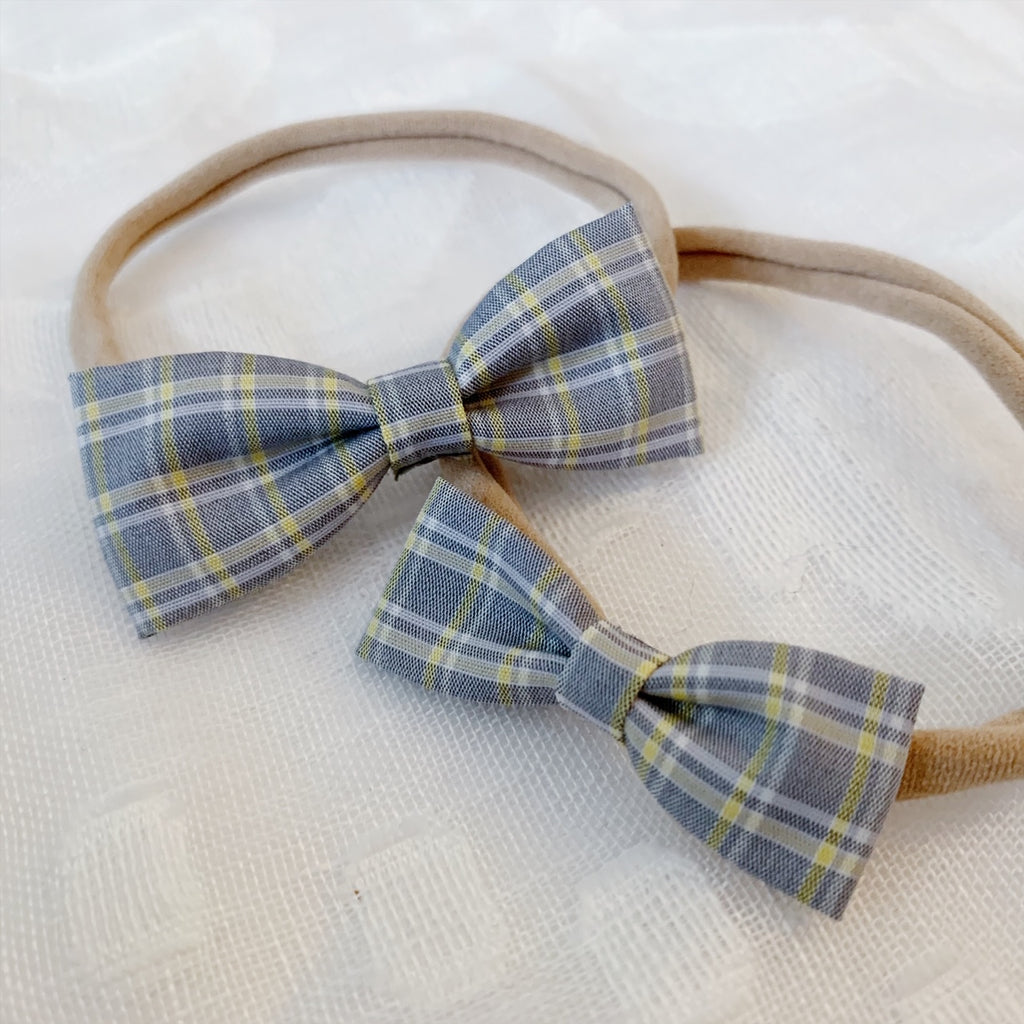 Grey and Yellow Plaid - Ever Iris Designs
