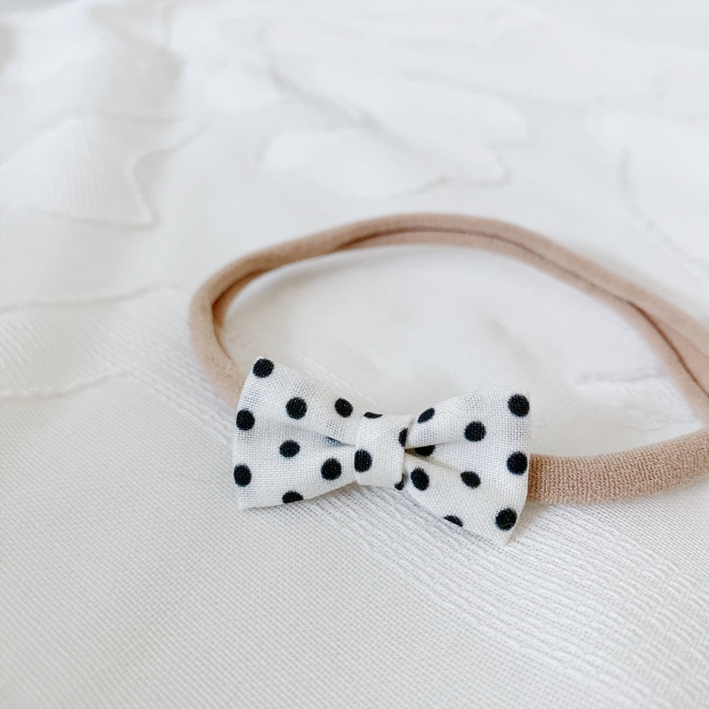 Itty Bitty White with Black Polka Dots - Ever Iris Designs