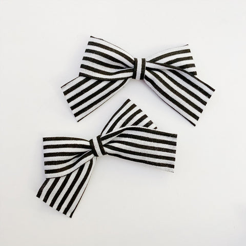Mini School Girl Black Skinny Stripe