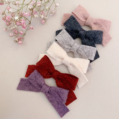 Mini School Girl Felt Bows - Ever Iris Designs
